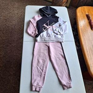 Girls Calvin Klein Pink Set